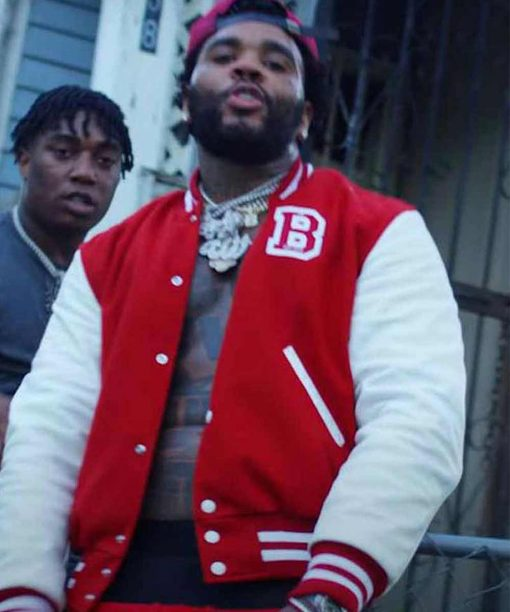 Fredo Bang - No Security Feat. Kevin Gates Red Lettterman Jacket