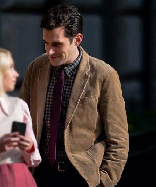 Gossip Girl Adam Chanler-Berat Corduroy Blazer Jacket