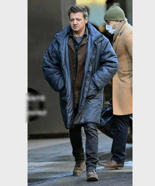 Jeremy Renner Hawkeye Black Coat