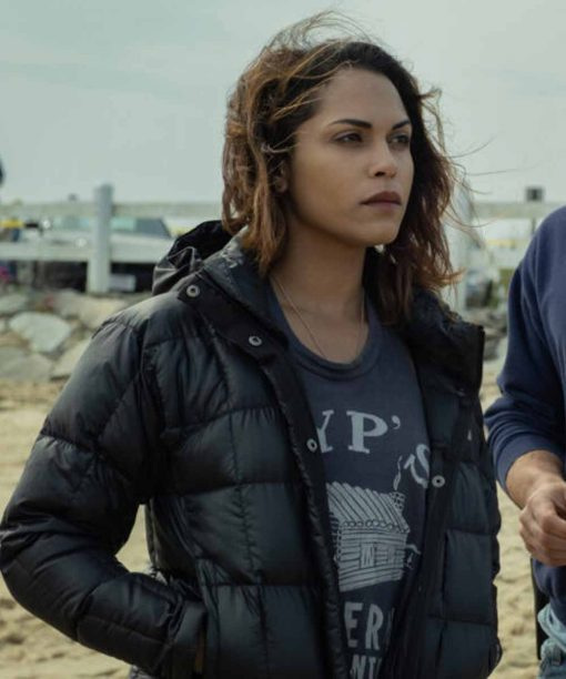 Hightown Monica Raymund Black Puffer Jacket