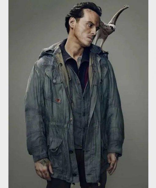His Dark Material S02 Andrew Scott Hooded Jacket