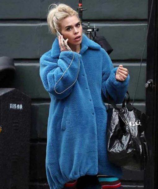 I Hate Suzie Billie Piper Blue Fur Coat