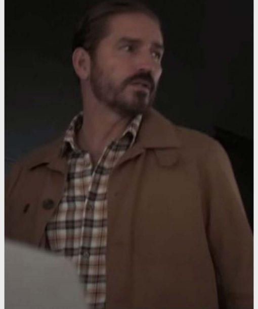 Jim Caviezel Infidel Brown Cotton Jacket