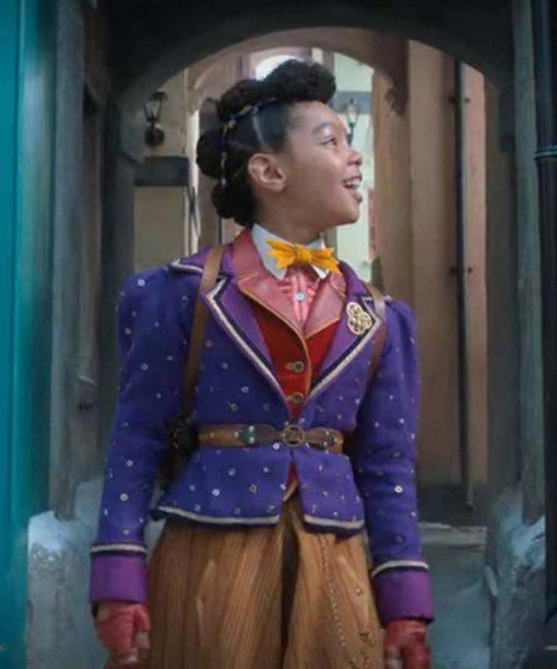 Madalen Mills Jingle Jangle a Christmas Journey Purple Blazer