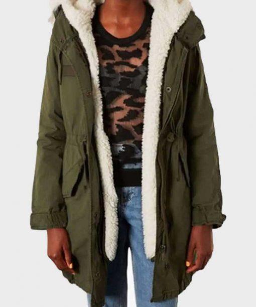 Kaitlyn Dever Last Man Standing Green Parka Jacket