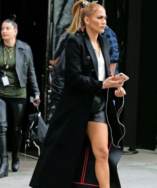 Jennifer Lopez Marry Me 2021 Black Trench Coat