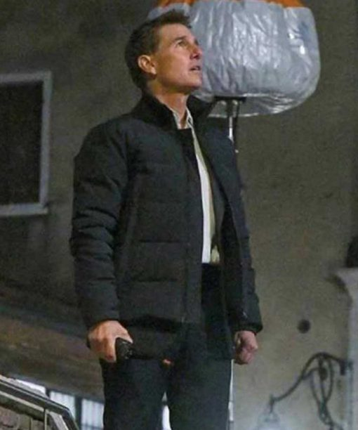 Mission: Impossible 7 (2021) Tom Cruise Black Puffer Jacket