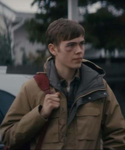 Nobody Gage Munroe Tan Brown Hooded Jacket