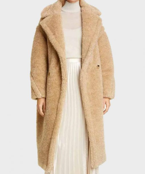 Out Of Her Mind Fiona Button Teddy Coat