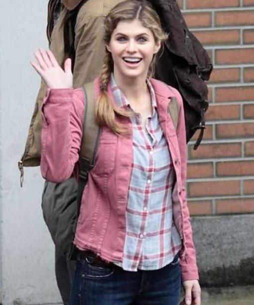 Alexandra Daddario Percy Jackson Sea Of Monster Pink Jacket