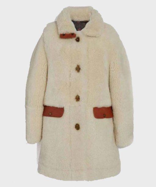 Jennifer Lopez Selena The Series White Fur Coat