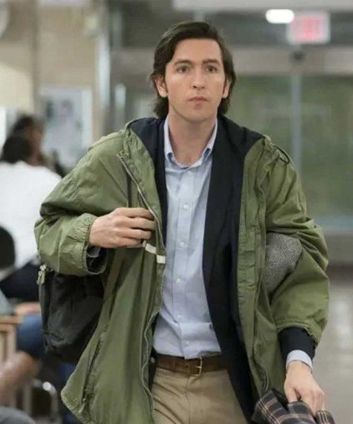 Succession Nicholas Braun Green Hooded Jacket