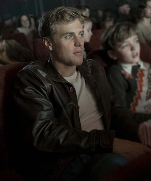 The Dig Johnny Flynn Brown Leather Jacket