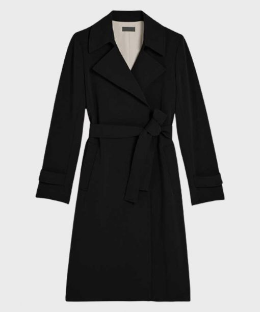 Merle Dandridge The Flight Attendant Black Trench Coat