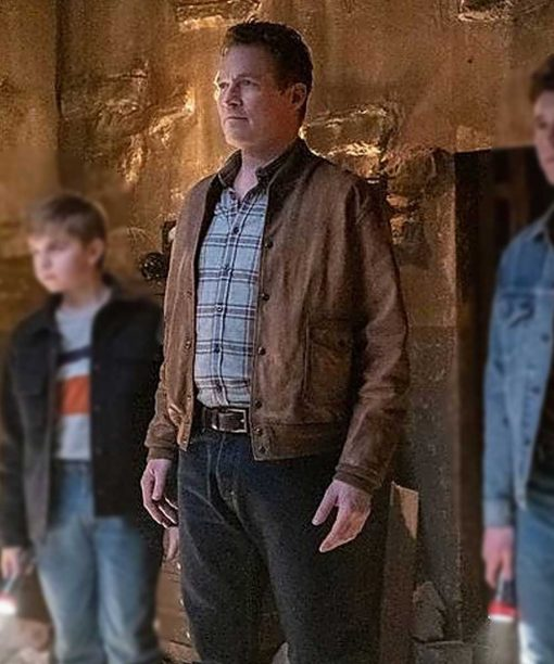 The Hardy Boys James Tupper Bomber Leather Jacket