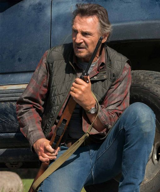 Liam Neeson The Marksman Quilted Vest