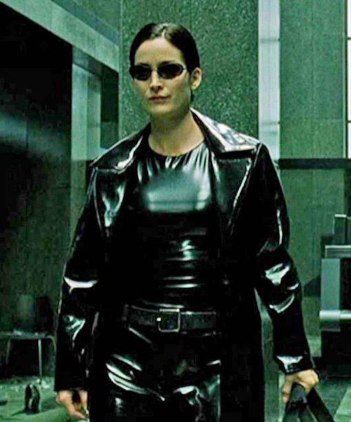 The Matrix 4 Carrie-Anne Moss Black Coat
