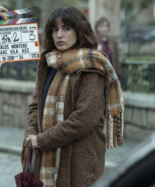 Inma Cuesta The Mess You Leave Behind Brown Wool-Blend Coat
