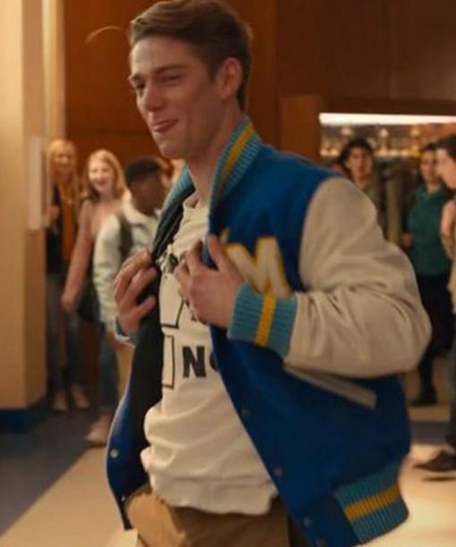 The Prom Nico Greetham Blue Varsity Jacket