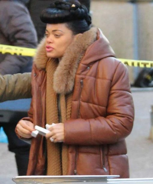 The United States vs. Billie Holiday Brown Puffer Coat