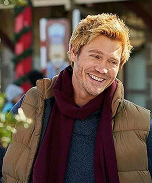 Chad Michael Murray Too Close For Christmas Puffer Vest