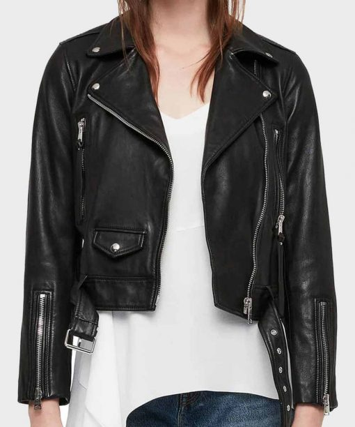 Camila Morrone Valley Girl Black Leather Jacket