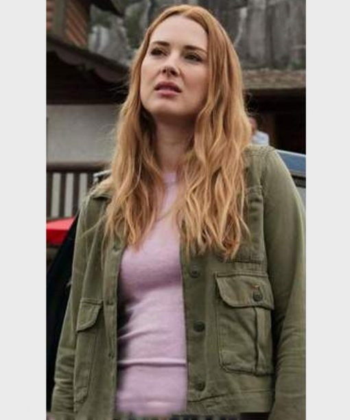 Alexandra Breckenridge Virgin River S02 Green Cotton Jacket