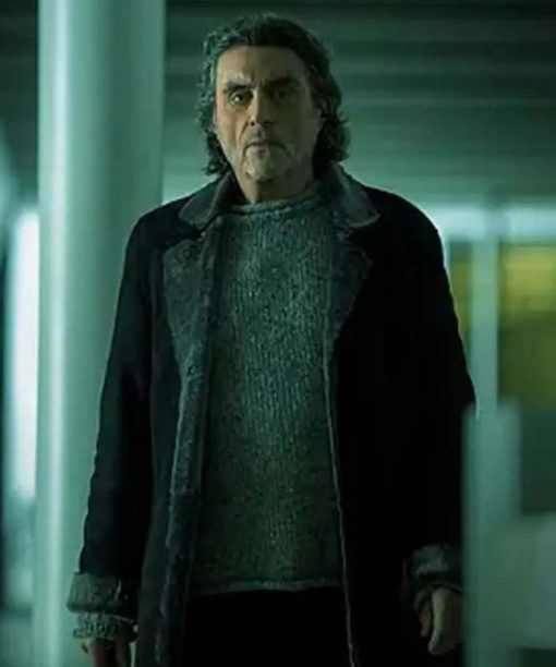 American God S03 Ian McShane Black Trench Coat