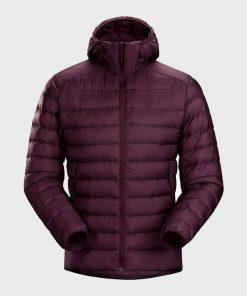 Winter Puffer Burgundy Jacket