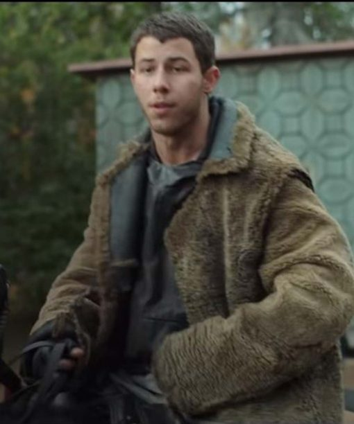 Nick Jonas Chaos Walking Sherpa Coat