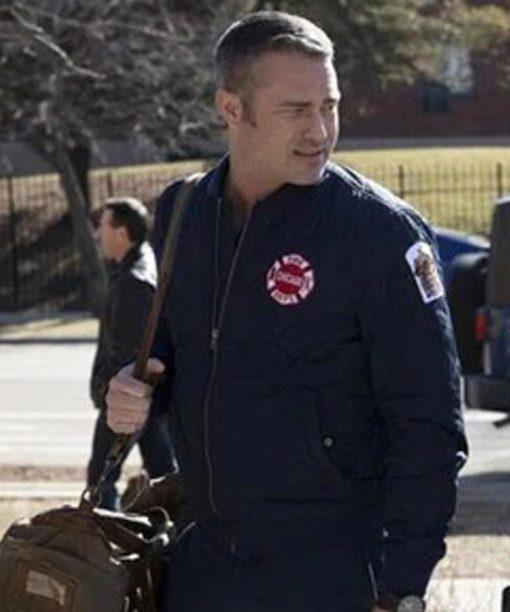 Chicago P.D. Taylor Kinney Blue Bomber Jacket