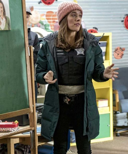 Chicago P.D. Marina Squerciati Hooded Coat