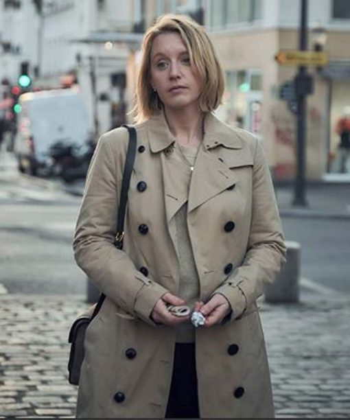Lupin Ludivine Sagnier Brown Trench Coat