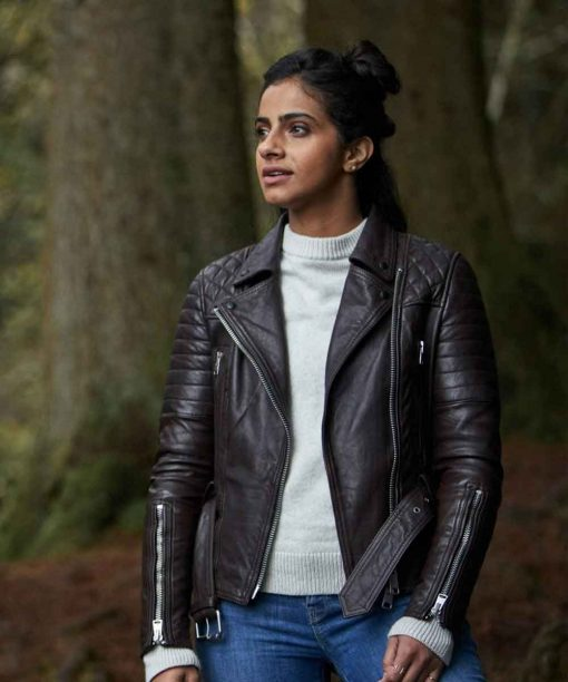 Mandip Gill Doctor Who Motorcycle Leather Motorcycle Jacket