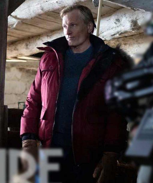 John Peterson Falling Red Parka Jacket