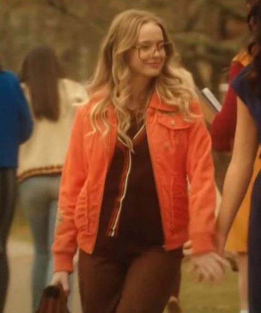 Sarah Chalke Firefly Lane Orange Jacket