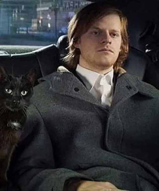 Lucas Hedges French Exit Grey Coat