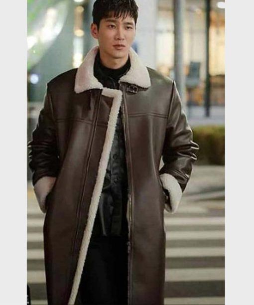 Itaewon Class Ahn Bo-Hyun Leather Long Coat