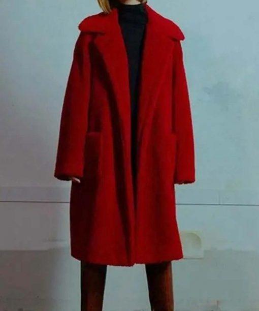 Itaewon Class Kim Da-Mi Red Teddy Coat