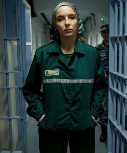 Jodie Comer Killing Eve Green Jacket