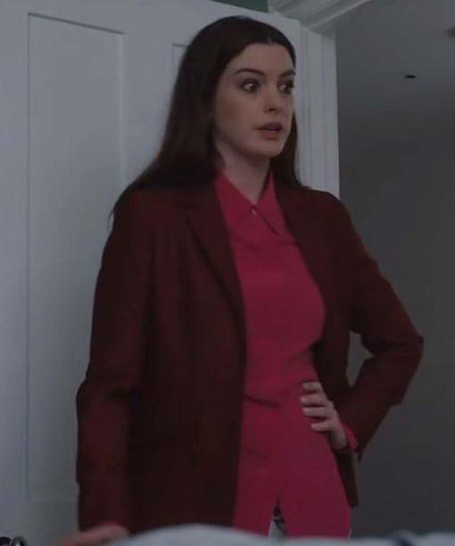 Locked Down Anne Hathaway Brown Blazer