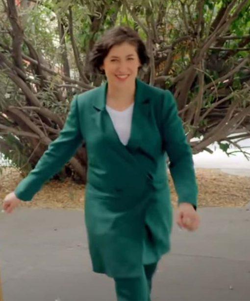 Call Me Kat Mayim Bialik Green Coat