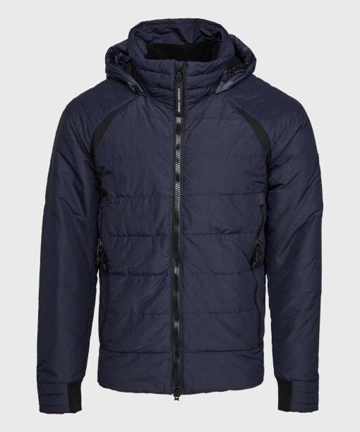 Mens Blue Parachute Puffer Jacket