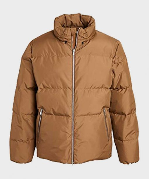 Lightweight Brown Winter Puffer Jacket