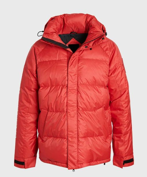 Mens Red Parachute Puffer Winter Jacket