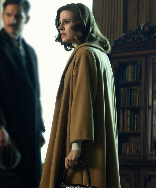 Emma Paetz Pennyworth Brown Wool Coat