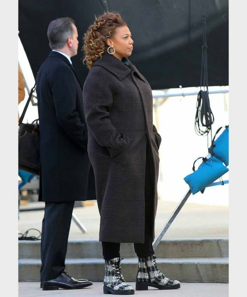 The Equalizer Queen Latifah Black Long Coat