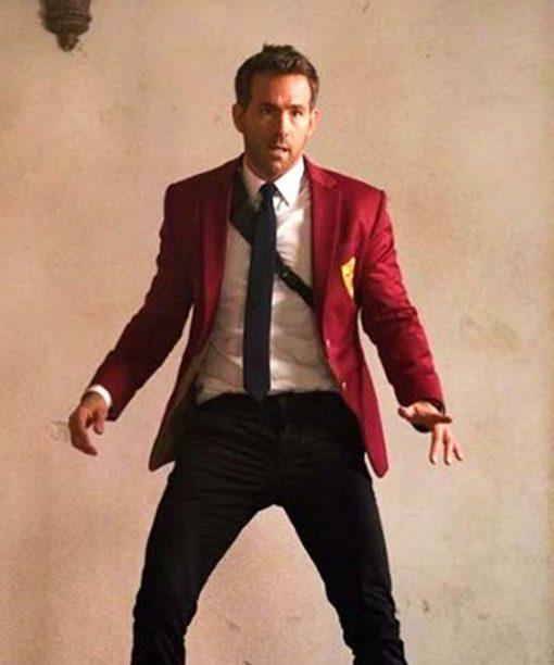 Red Notice Ryan Reynolds Red Blazer