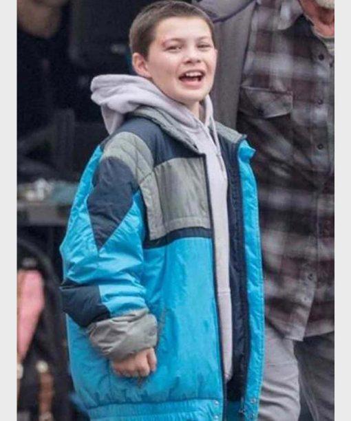 Samaritan (2021) Javon Walton Blue Puffer Jacket
