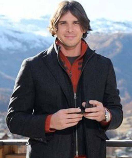 The Bachelor Black Wool-Blend Coat